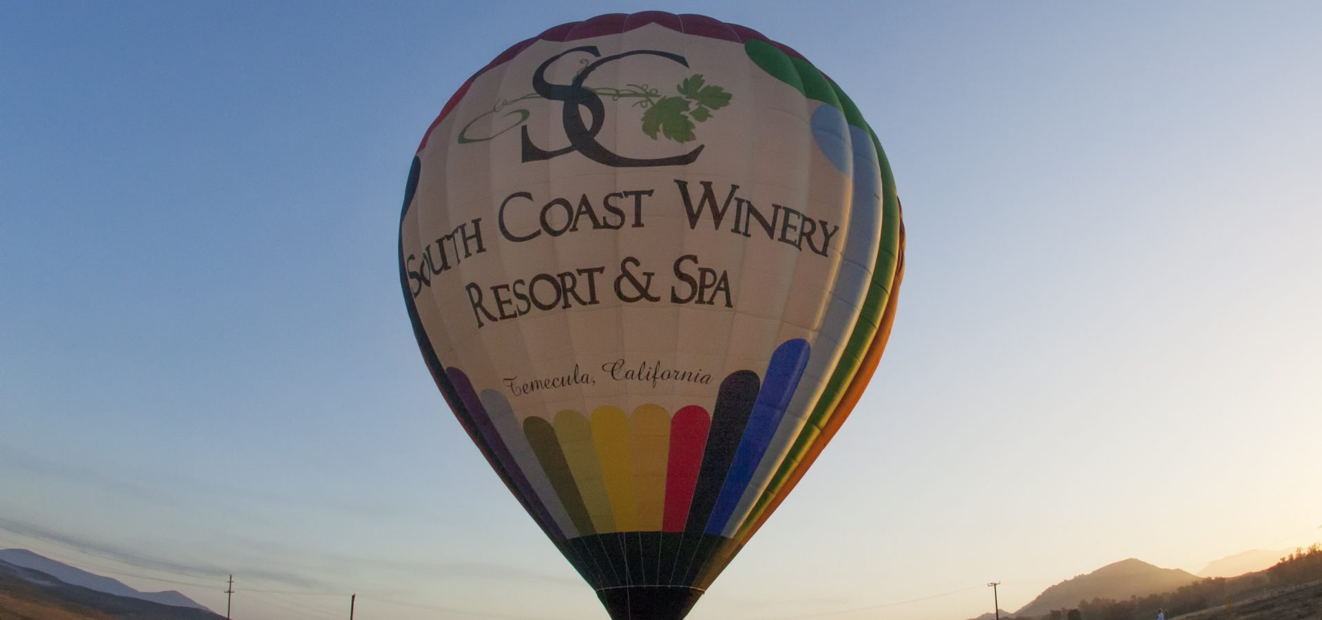 hot air balloon ride at south coast winery resort & spa