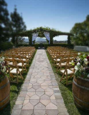 wedding reception at South Coast Winery in Temecula CA